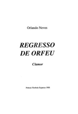 Regresso De Orfeu