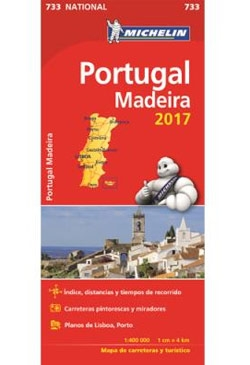 Mapa Michelin National 733 - Portugal e Madeira 2017